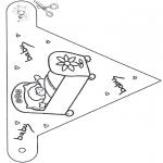 Knutselen - Vlag knutselen