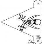 Knutselen - Vlaggetje piraat