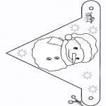 Knutselen - Vlaggetje sneeuwman 2