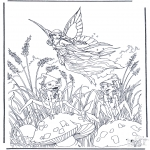 Allerlei Kleurplaten - Vliegend elfje