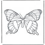 Kleurplaten Dieren - Vlinder 1