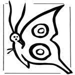 Kleurplaten Dieren - Vlinder 2