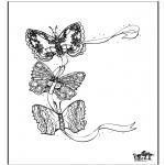 Kleurplaten Dieren - Vlinder 3