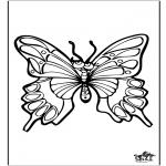 Kleurplaten Dieren - Vlinder 4