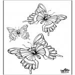 Kleurplaten Dieren - Vlinder 5