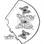 Knutselen - Vlinder hoedje 2