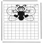 Knutselen - Vlinder overtekenen