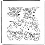 Kleurplaten Dieren - Vlinders 1