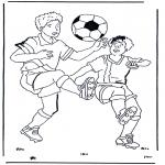 Allerlei Kleurplaten - Voetbal 1