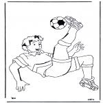 Allerlei Kleurplaten - Voetbal 2