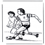 Allerlei Kleurplaten - Voetbal 4