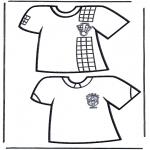 Allerlei Kleurplaten - Voetbal t-shirts 1