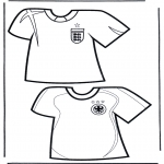 Allerlei Kleurplaten - Voetbal t-shirts 2
