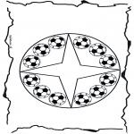 Mandala Kleurplaten - Voetbalmandala