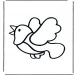 Kleurplaten dieren - Vogel