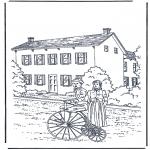 Allerlei Kleurplaten - Voor het huis