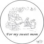 Thema Kleurplaten - Voor lieve moeder