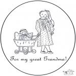 Thema Kleurplaten - Voor lieve Oma