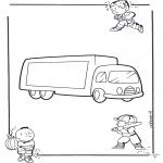 Allerlei Kleurplaten - Vrachtwagen 1