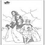 Allerlei Kleurplaten - Vrouw en jongen