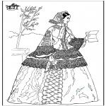 Allerlei Kleurplaten - Vrouw met brief