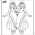 Kinderkleurplaten - Warda meisjes