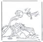 Wasbeer en kolibri