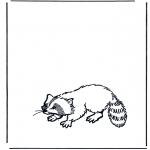 Kleurplaten Dieren - Wasbeer