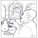 Kleurplaten Bijbel - Water werd wijn
