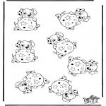 Knutselen - Welke is anders 101 Dalmatier