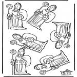 Knutselen Prikkaarten - Welke Sint is anders