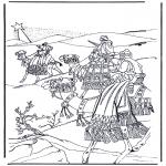 Kleurplaten Bijbel - Wijzen uit het oosten 1