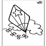Knutselen - Window color vlieger