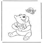 Stripfiguren Kleurplaten - Winnie de Poeh 1