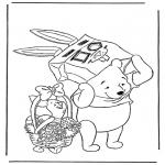 Stripfiguren Kleurplaten - Winnie de Poeh 2