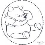 Knutselen Borduurkaarten - Winnie de Poeh Borduurkaart 1