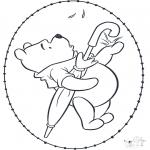 Knutselen Borduurkaarten - Winnie de Poeh Borduurkaart 2