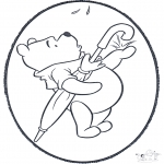 Knutselen Prikkaarten - Winnie de Poeh Prikplaat 2