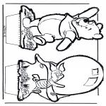 Knutselen prikkaarten - Winnie de Poeh Prikplaat 5