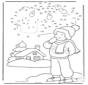Winter cijfertekening 1