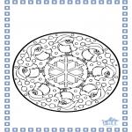 Knutselen Prikkaarten - Winter kleurplaten