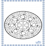 Kleurplaten Winter - Winter mandala