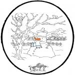 Kleurplaten Winter - Winter prikkaart 4