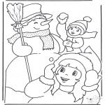 Kleurplaten Winter - Winterpret