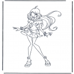 Stripfiguren Kleurplaten - Winx Club 1
