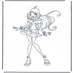 Stripfiguren Kleurplaten - Winx Club 1