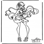 Stripfiguren Kleurplaten - Winx club 12