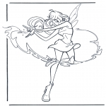 Stripfiguren Kleurplaten - Winx Club 4