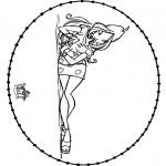 Knutselen Borduurkaarten - Winx knutselen