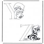 Allerlei Kleurplaten - Y en Z